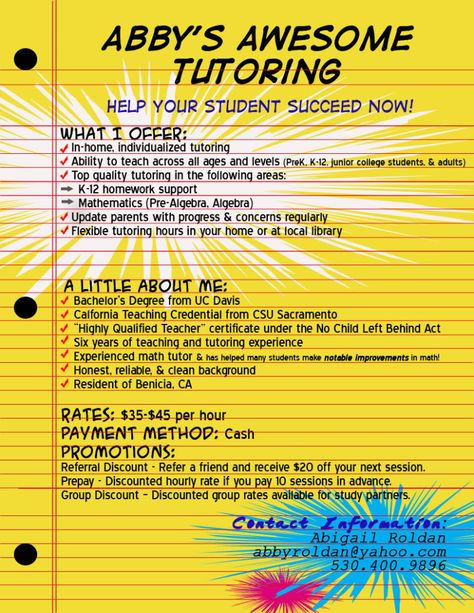 Tutoring Services Flyer  Ad Template  Template    Ad