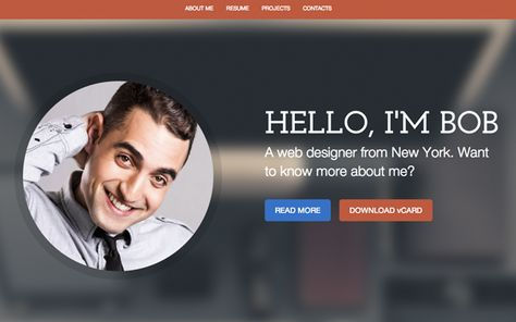 style resume theme download templates bootstrap website free html personal