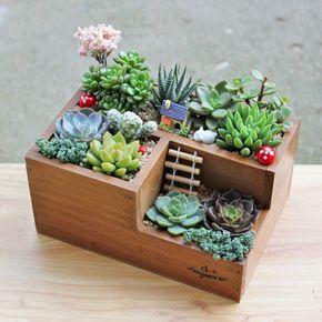Garden Supplies Wooden Garden Planter Window Box Trough Pot Succulent Flower Bed Plant Bed Pot Free Sukkulentnye Rassady Sadovye Podelki Sadovye Prinadlezhnosti