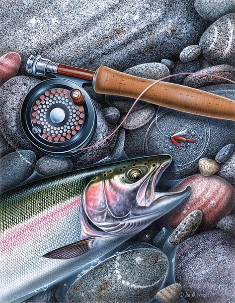 Rainbow Trout Art Print by JQ Licensing. All prints are professionally printed, packaged, and shipped within 3 - 4 business days. Choose from multiple sizes and hundreds of frame and mat options.