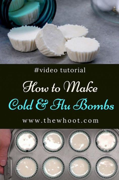 Cold Remedies cold and flu shower bombs - Learn how to make cold and flu shower bombs. They are so easy and they work incredibly well. We have a video tutorial to show you how. Doterra, Bath Bomb Recipes, Soap Recipes, Cleaning Recipes, Homemade Beauty, Diy Beauty, Bath Melts, Diy Shower, Home Made Soap