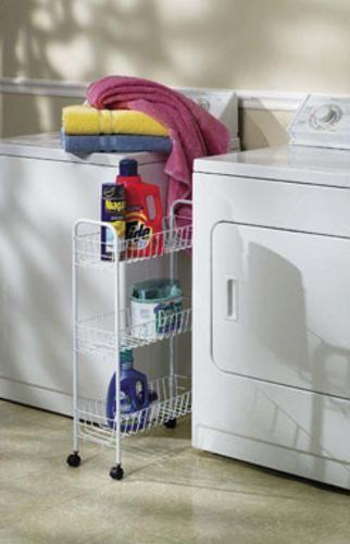 Household Essentials 05121 3 Tier Storage Cart 30 X 7 X 20