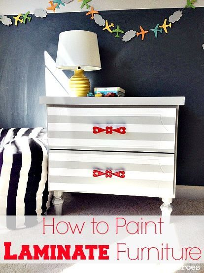 How To Spray Paint Laminate Furniture Painting Laminate Furniture Laminate Furniture Furniture Makeover Dresser