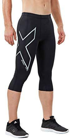 Black 2XU Hyoptik Mens Compression Short Tights