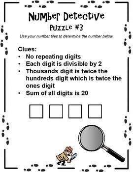 Number Detective : number, detective, Number, Detective, Tiles, Middle, School, Puzzles, Math,, School,, Terminology