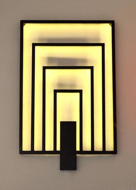 Applique murale art déco LEDS