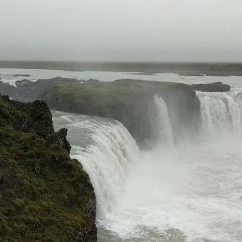 Godafoss Waterfall in Iceland.  . . #ship #cruise #travel #sea #ocean #vacation #nature #instapic #beautiful @halcruises #iceland #waterfall #water