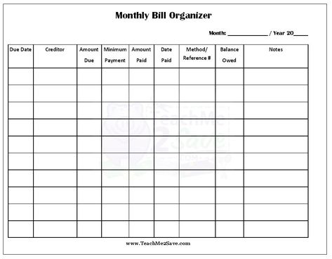 Free Printable Monthly Bill Organizer Funtastic Life Bill Planner Bill Organization Paying Bills