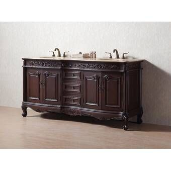 Parkins 48 Single Bathroom Vanity Set Vanity Set Double Sink