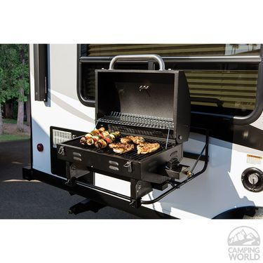 Portable Rv Barbeque Grill Black Camping Meals Camping Decor Camping Supplies