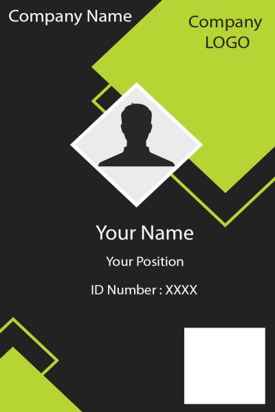 Id Card Six Front Business Card Design Minimal Id Card Template Identity Card Design