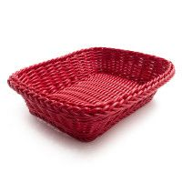 Red baskets in different sizes, available from #SurLaTable