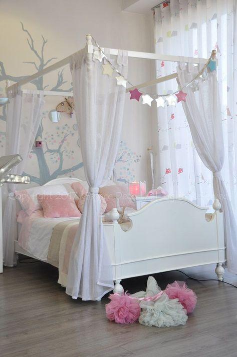 Lit Baldaquin Lit Princesse Lit Blanc Atelier Magique