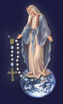 Que el Rosario de María nos libre de todo mal alabemos noche y día a la Reyna celestial