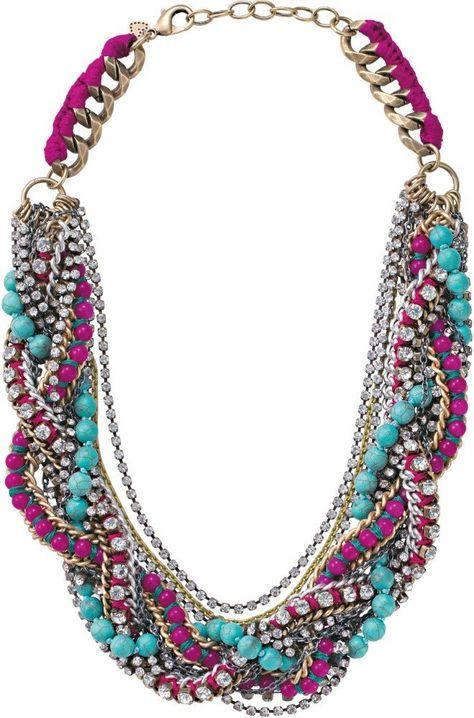 Chain, Pink Bead, Jade & CZ Statement Necklace | Bamboleo Necklace