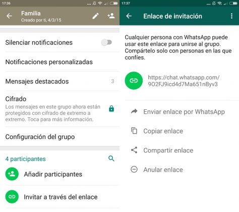 Cómo Crear Un Enlace Para Invitar A Personas A Un Grupo De Whatsapp En Android Trucos Para Whatsapp Trucos Notificaciones Whatsapp