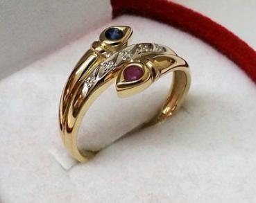 atelier 19,2 mm Schlangen Ring Gold 585