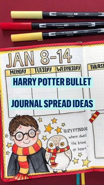 Harry Potter Whimsical Bullet Journal Spreads