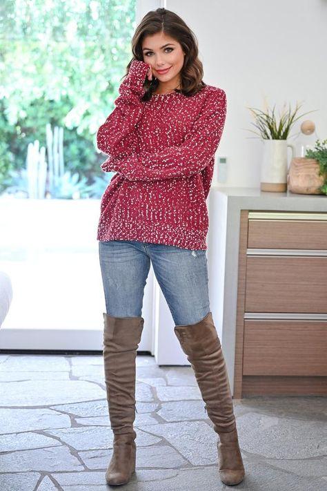 Throw The Confetti Knit Swe...  women's fall fashion | fall style ideas | fall outfits | fall fashion | fall outfit inspiration | fall outfit ideas | best fall outfits | best outfits for fall