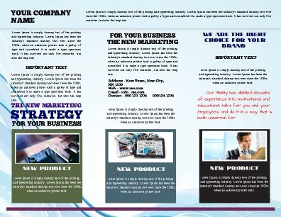 Technology Brochure perfect for highlighting new technology - technology brochure template