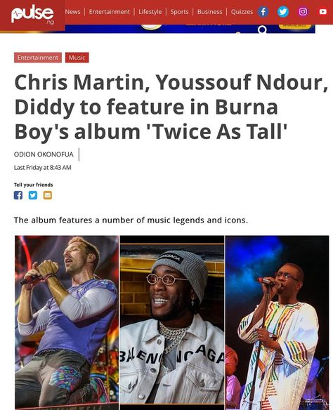 """BukiHQ Media on Instagram: """"The press is already showing love to the #TWICEASTALL album. 14/08 is the date!!! #burnaboy  #BukiHQMedia"""""""