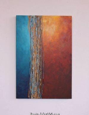 strassenkreuzung blau turkis orange gelb rostbraun original moderne kunst begrifflich design magazin malerei abstrakt abstrakte bilder schwarz weiß kandinsky