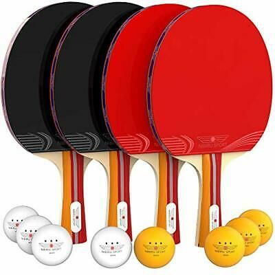 Details About Ping Pong Paddle Set 4 Player Bundle Pro Premium Rackets 3 Star Balls Case In 2020 Table Tennis Set Ping Pong Paddles Tennis Set