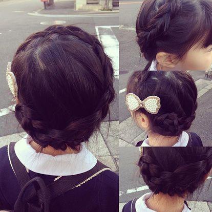 幼稚園 保育園 女の子のヘアアレンジ 簡単かわいい子供の髪型 簡単