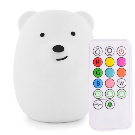 Led Nursery Night Lights For Kids Lumipets Cute Animal Silicone Baby Night Light With Touch Sensor And Remote Portable And Rechargeable Infant Or Toddler Coo Night Light Kids Baby Night