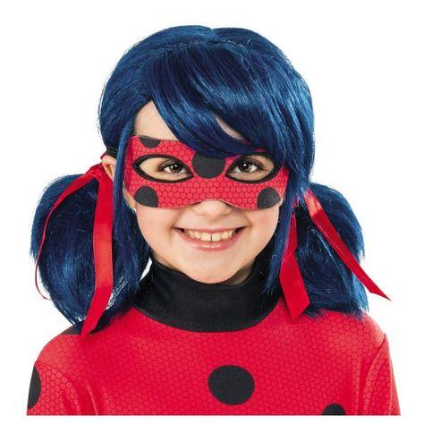 Miraculous Ladybug Wig Girls Superhero Fancy Dress Costume Accessory