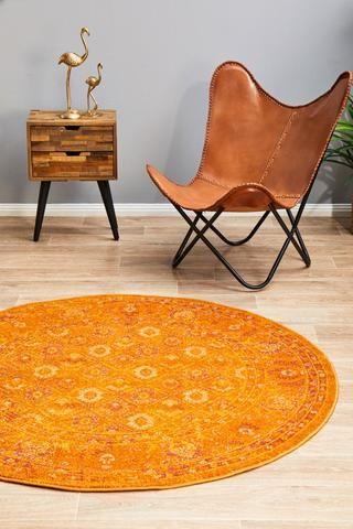 Blaze Burnt Orange Round Rug Lost Design Society In 2020 Round Rugs Rugs Rugs Online