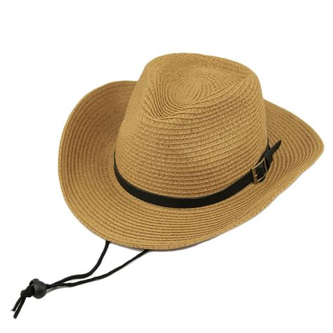 5b309a77 Durable Summer Women's Large Brim Straw Foldable Beach Hat w/Buckle Accent  3 Colors