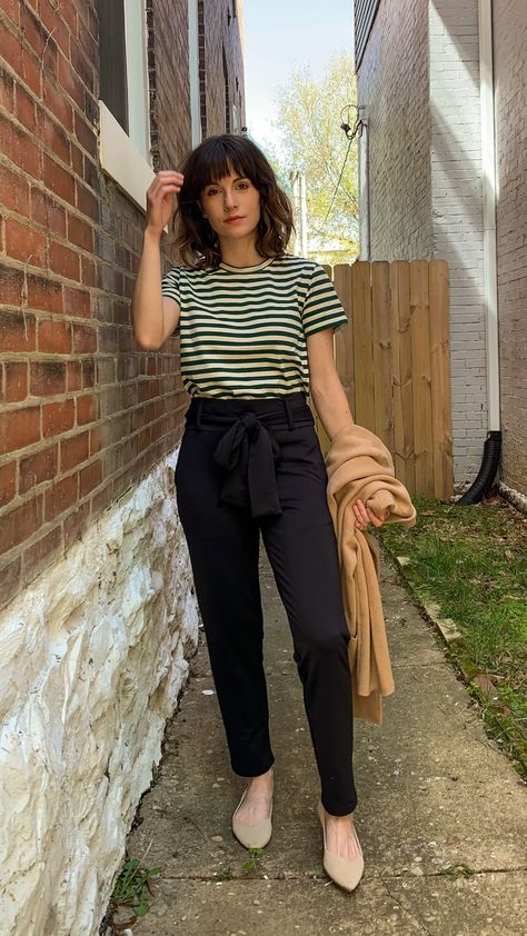 3 ways to style a striped t shirt