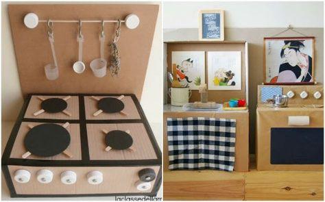 giochi di cartone cucina | Cardboard for kid | Giocattoli ...