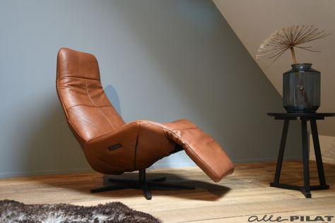 Elektrische Relax Fauteuil Leer.Elektrische Relax Fauteuil Mink In Cognac Leer Woonwinkel
