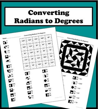 Converting Radians To Degrees Color Worksheet Algebra Worksheets Common Core Math Fractions Math Graphic Organizers