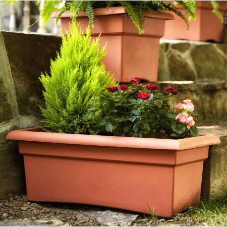 Patio Garden Deck Planter Boxes Planter Boxes Deck Planters