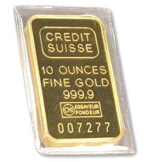 Gold 10 Oz Credit Suisse Bar Goldbullion Goldinvestment Credit Suisse Gold Investments Gold Bullion Bars