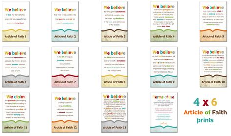 LDS Prints: Articles of Faith - Simply Fresh Designs