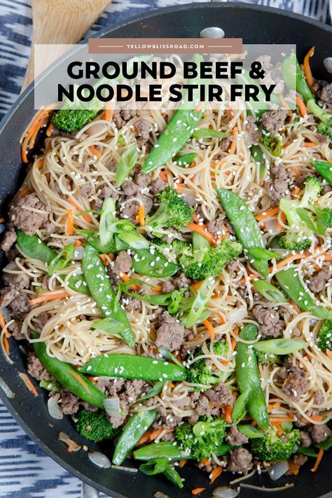Ground Beef Noodles Stir Fry Recipe Beef Noodles Ground Beef Beef Recipes