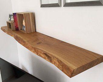 Shelving Board Shelf Oak Solid 80x24 27 X 4 Cm Wandregal Holz