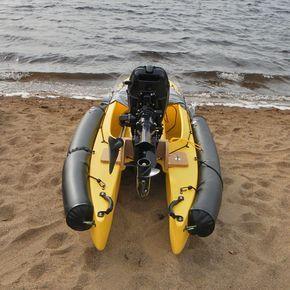 motorized-kayak | Diy craft | Motorized kayak, Kayak fishing