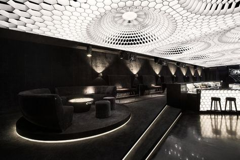 The design concept for :PM Club is 'If God is a DJ, then PM is a temple'. Inspired by music lovers, the space in Sofia, Bulgaria is designed by Studio Mode.