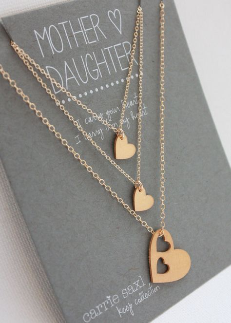 Mother Daughter Necklace Set 2 daughters Mother's by carriesaxl