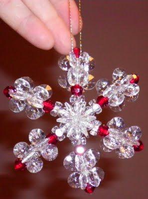 Happybird's Crafting Haven: Snowflake Ornament Tutorial