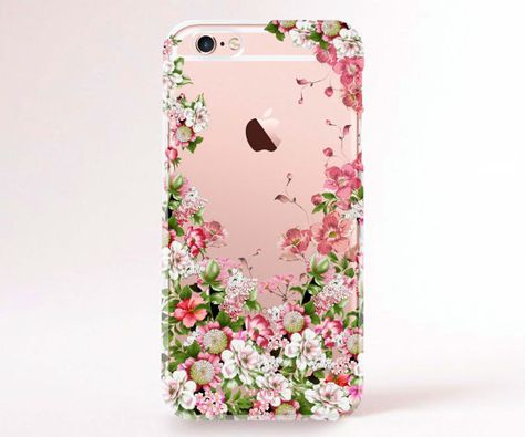 Clear Transparent Spring Floral iPhone 6 case ★ Check out more iPhone Accessories & Gadgets at @prettywallpaper