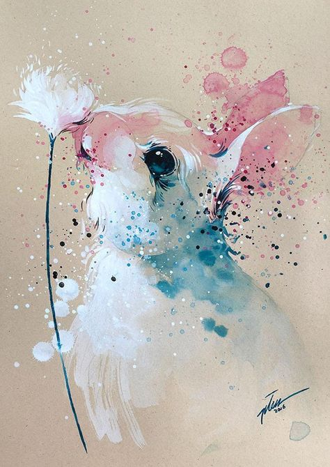 Gouache Painting, Painting & Drawing, Bunny Painting, Watercolor Animals, Watercolor Art, Watercolour Paintings, Art Paintings, Art Inspo, Rabbit Art