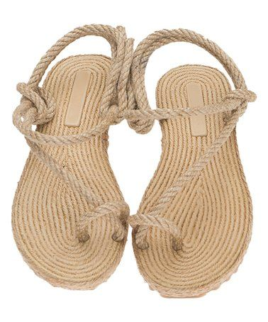 Love This Jute Crossover Rope Sandal On Zulily Zulilyfinds Braided Sandals Rope Sandals Sandals
