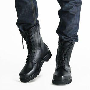venta caliente barato vista previa de los más valorados a cuero hombre botas militares funcional con cordones ...