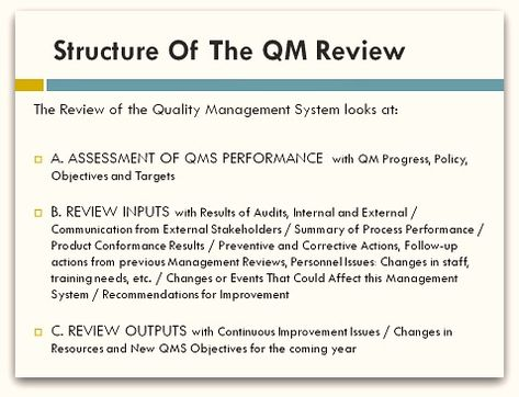 The Apex of any quality management system has to be the Quality - supplier evaluation form